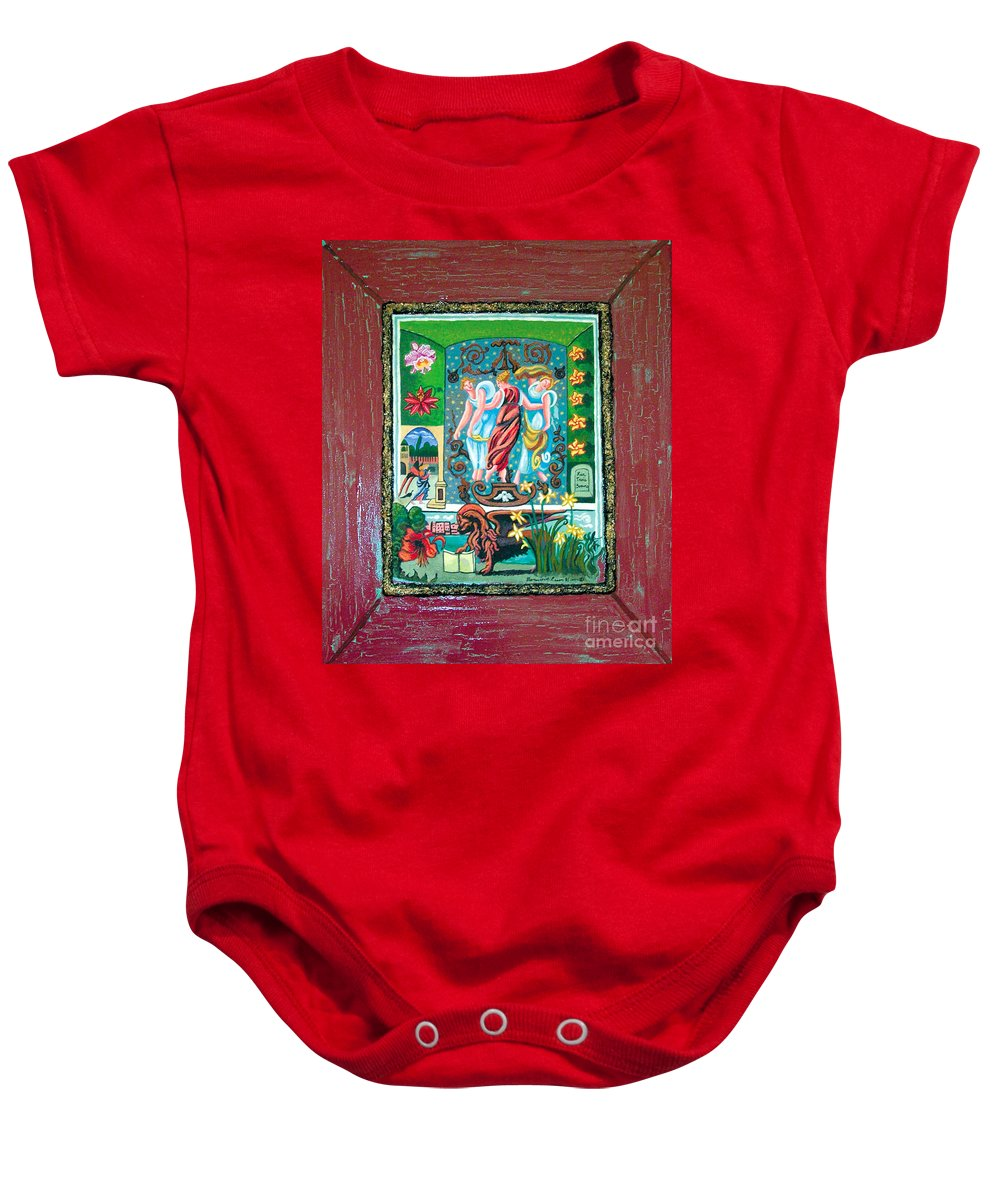 Women Baby Onesie featuring the painting The Three Sisters by Genevieve Esson