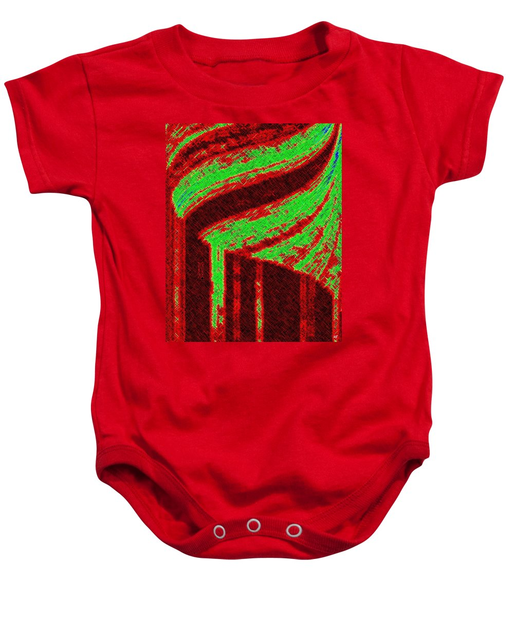 Abstract Baby Onesie featuring the digital art The Village by Will Borden