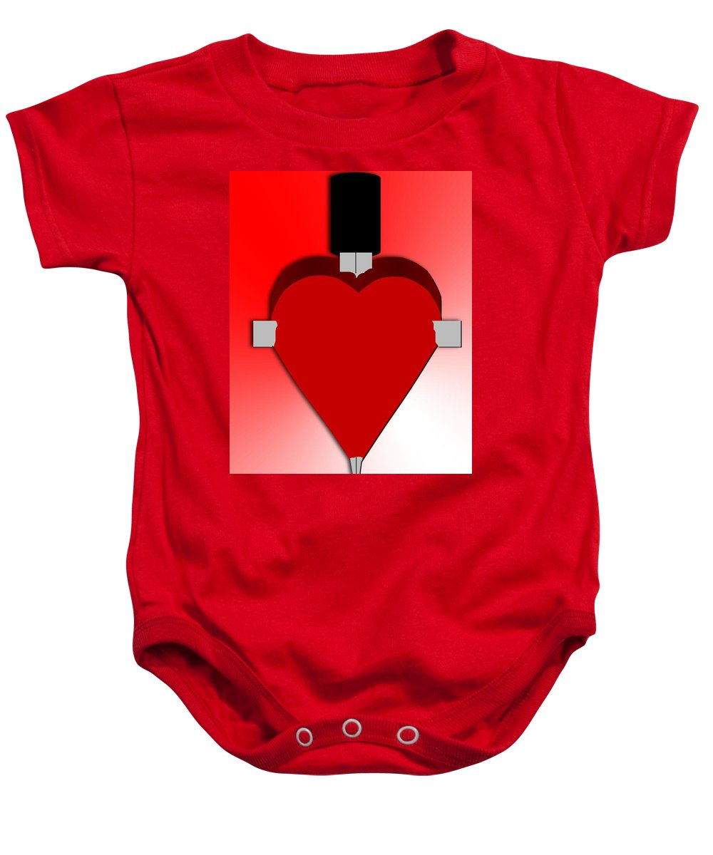 Heart Baby Onesie featuring the painting Through The Heart by Pharris Art