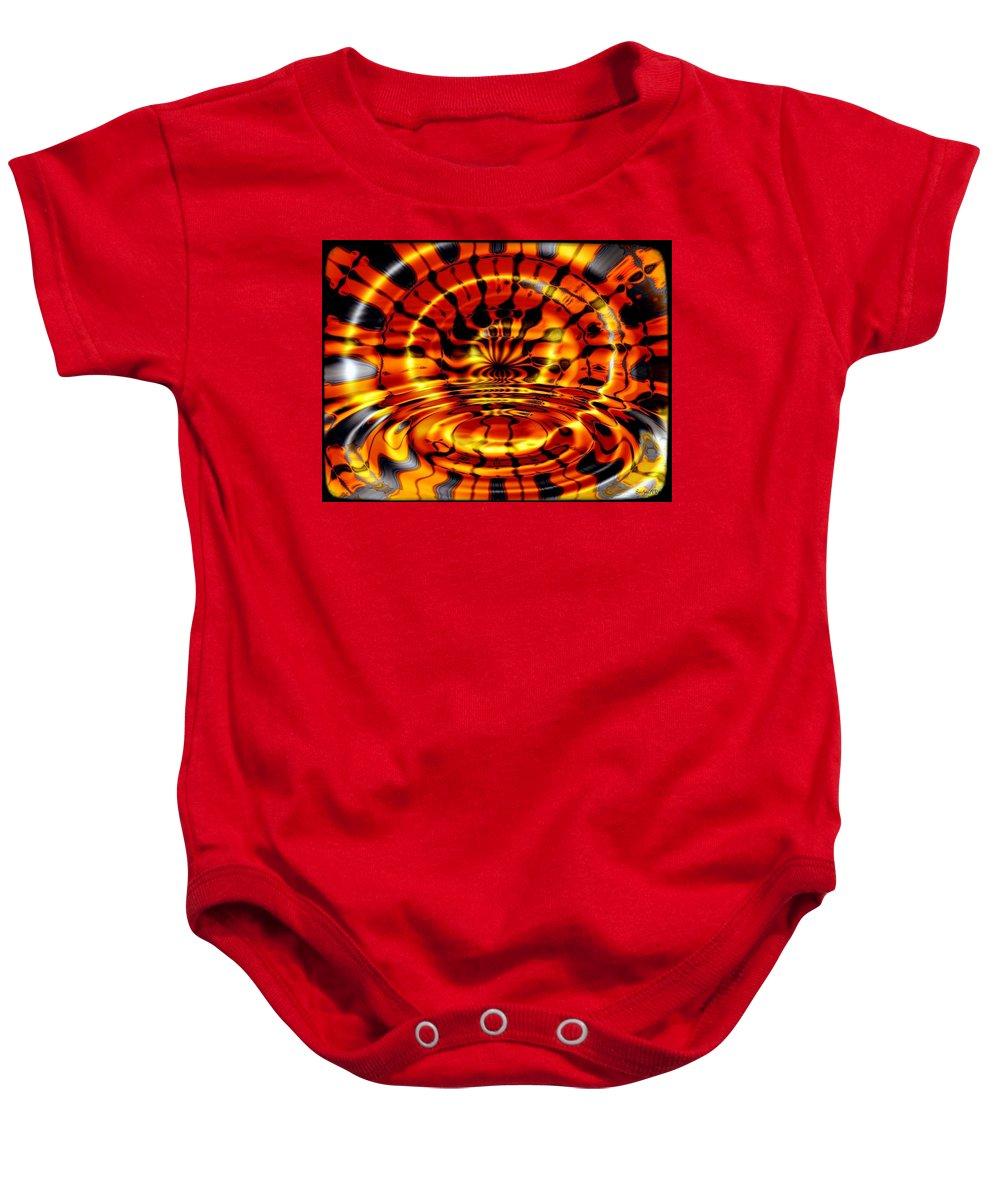 Fractal Baby Onesie featuring the digital art Tiger's Eye by Robert Orinski