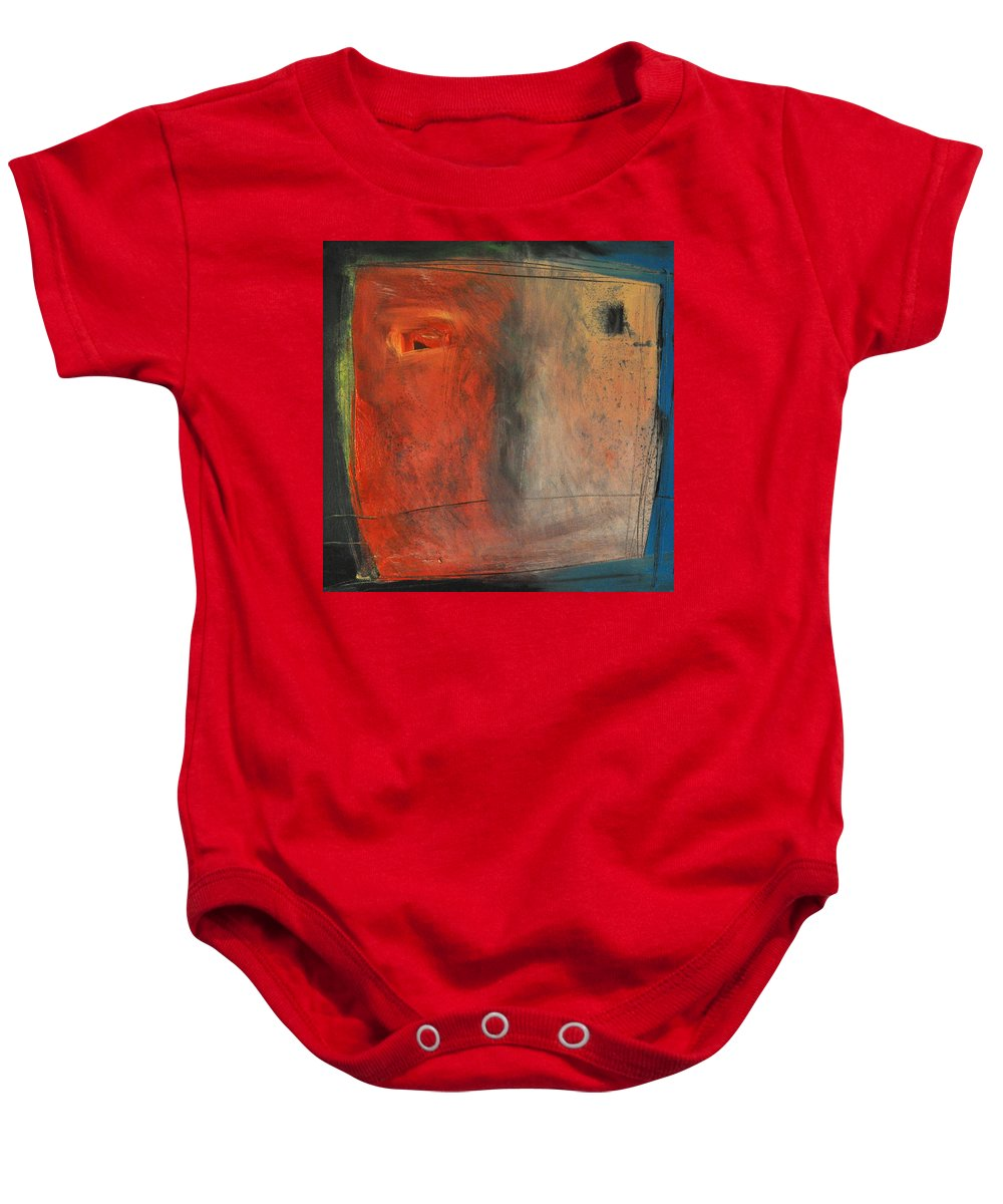Abstract Baby Onesie featuring the painting Trepidation by Tim Nyberg