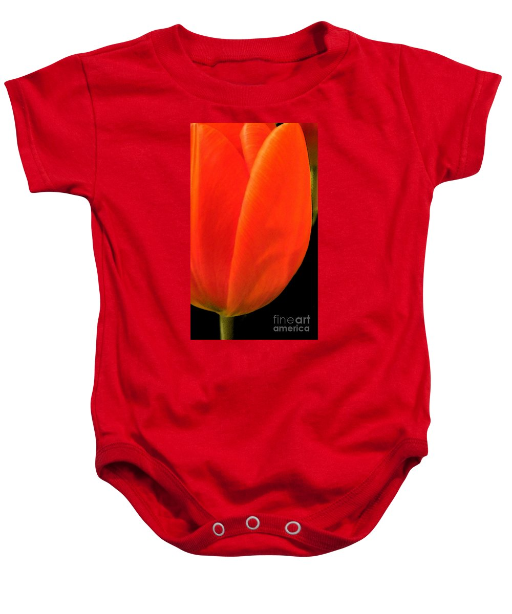 Tulips Baby Onesie featuring the photograph Tulip by Amanda Barcon