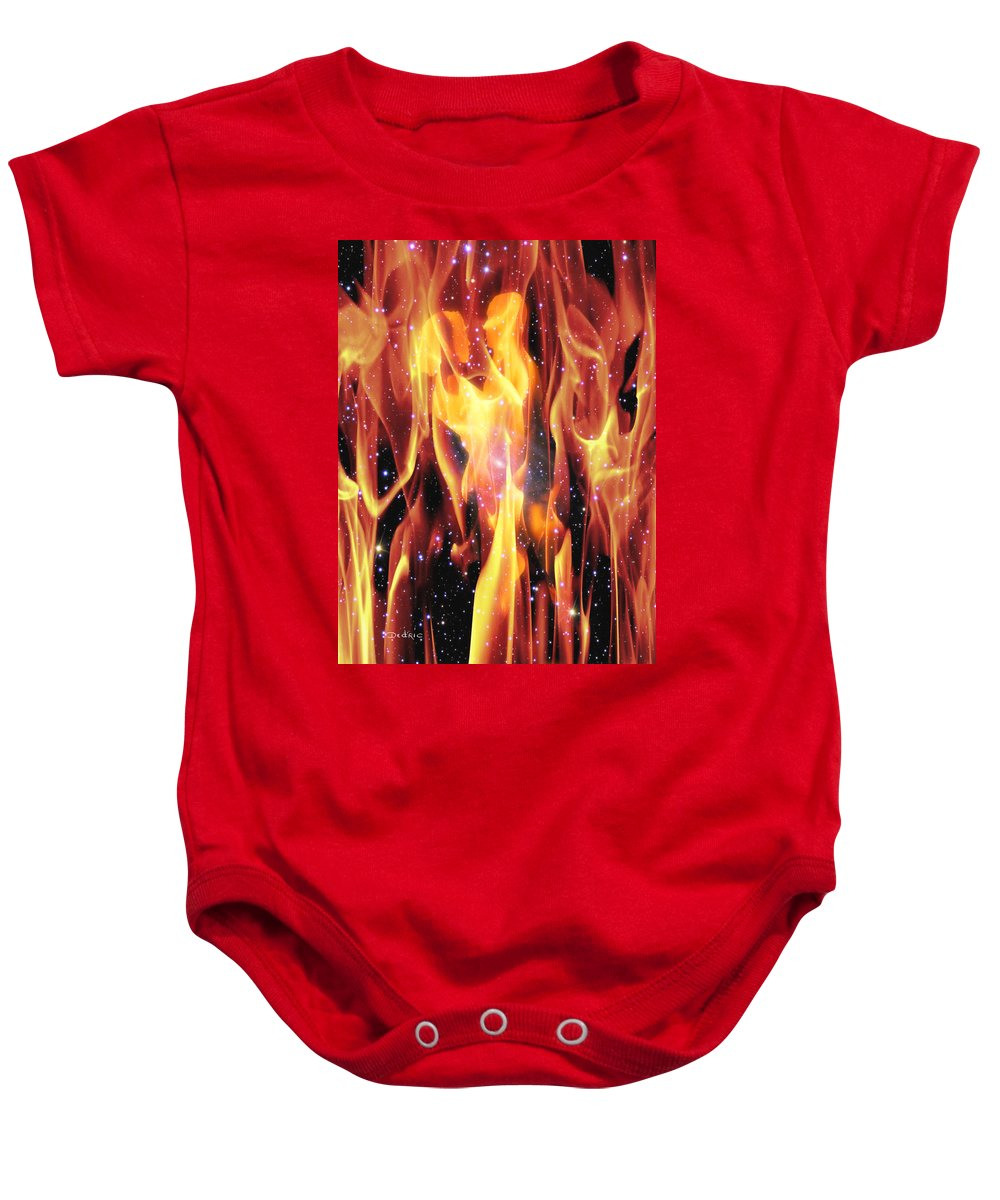 Twin Baby Onesie featuring the digital art Twin Flames by Dedric Artlove W
