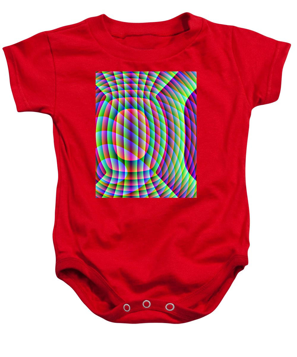 Electronic Baby Onesie featuring the digital art Uncollared Colors Three by Joel Kahn