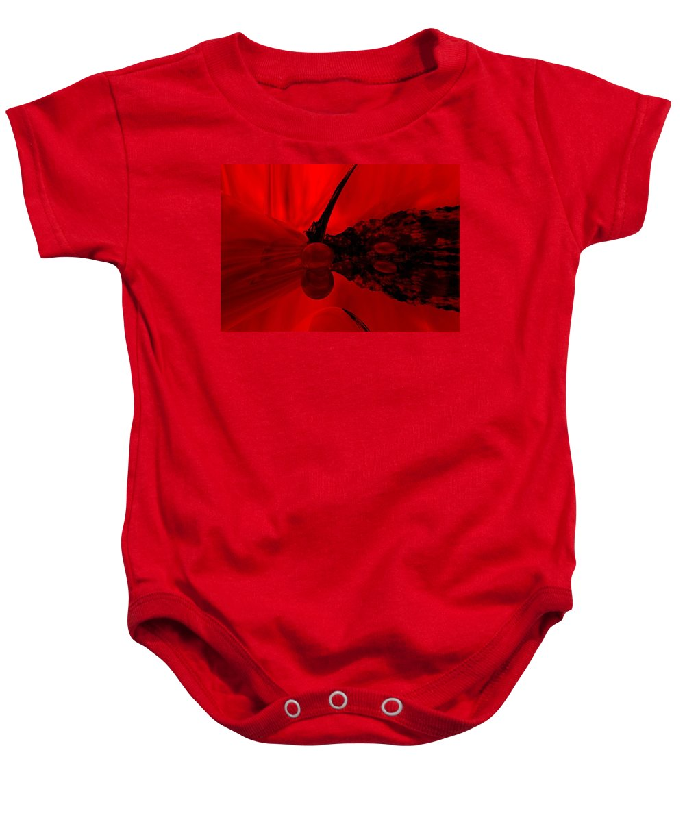 Abstract Baby Onesie featuring the digital art Untitled by David Lane