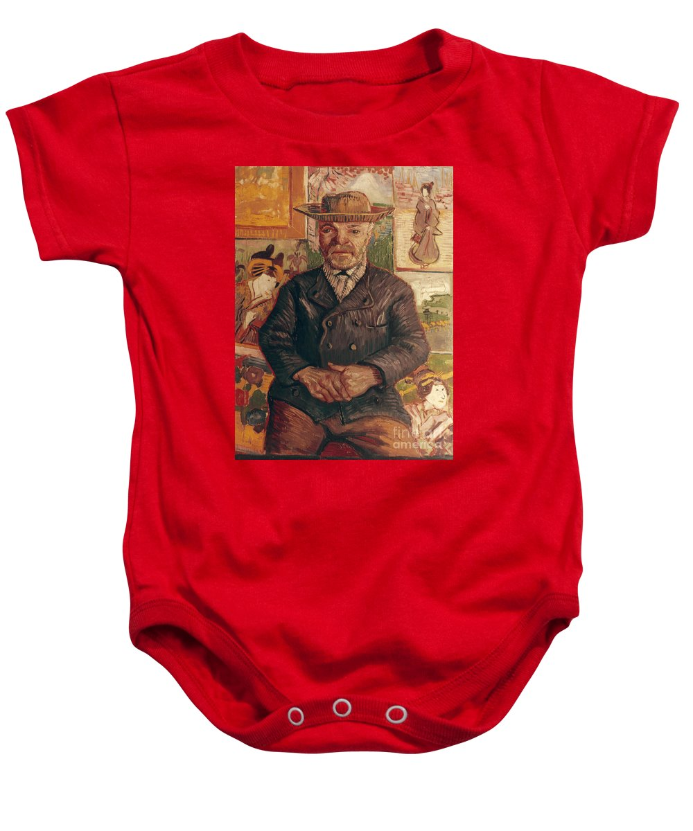 1887 Baby Onesie featuring the photograph Van Gogh: Pere Tanguy, 1887 by Granger