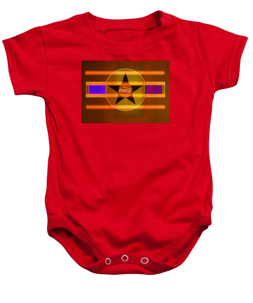 Label Baby Onesie featuring the painting Venetian Cola by Charles Stuart
