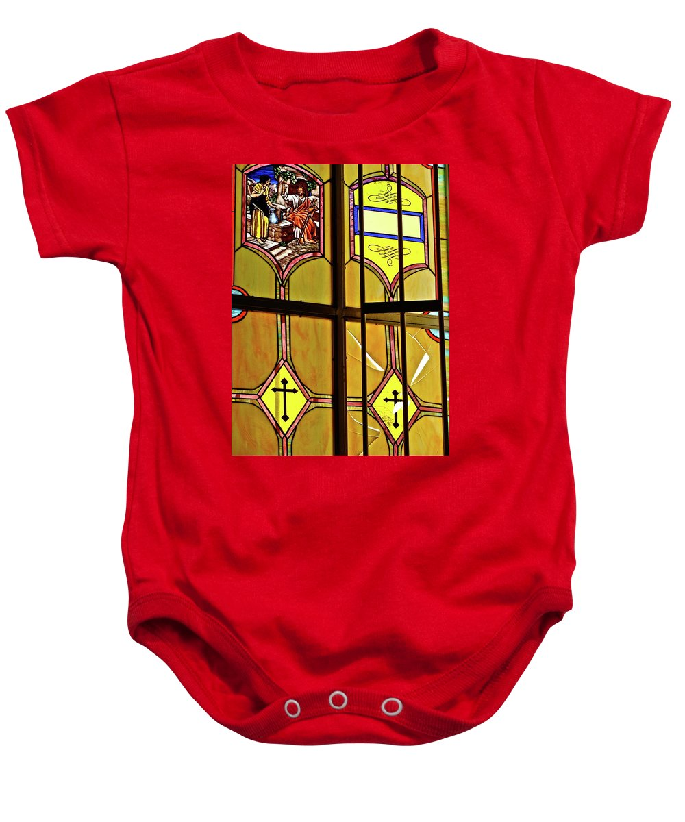 Window Baby Onesie featuring the photograph Ventana by Diana Hatcher