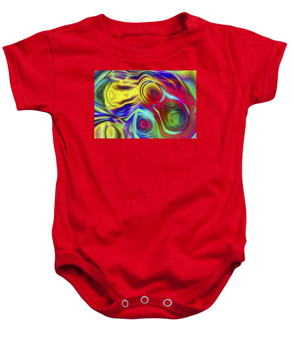 Crazy Baby Onesie featuring the digital art Vision 10 by Jacques Raffin