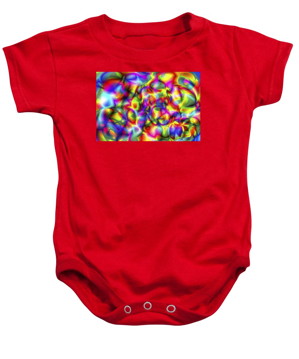 Crazy Baby Onesie featuring the digital art Vision 2 by Jacques Raffin