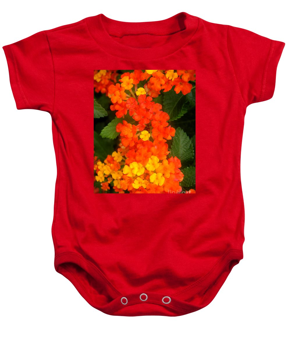 Nature Baby Onesie featuring the photograph Volcanic Display by Lucyna A M Green