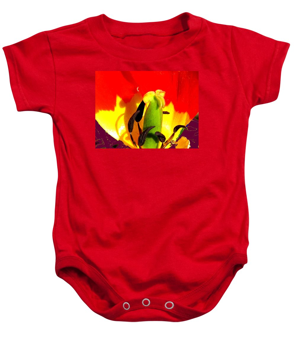 Abstract Baby Onesie featuring the photograph Waiting by Ian MacDonald