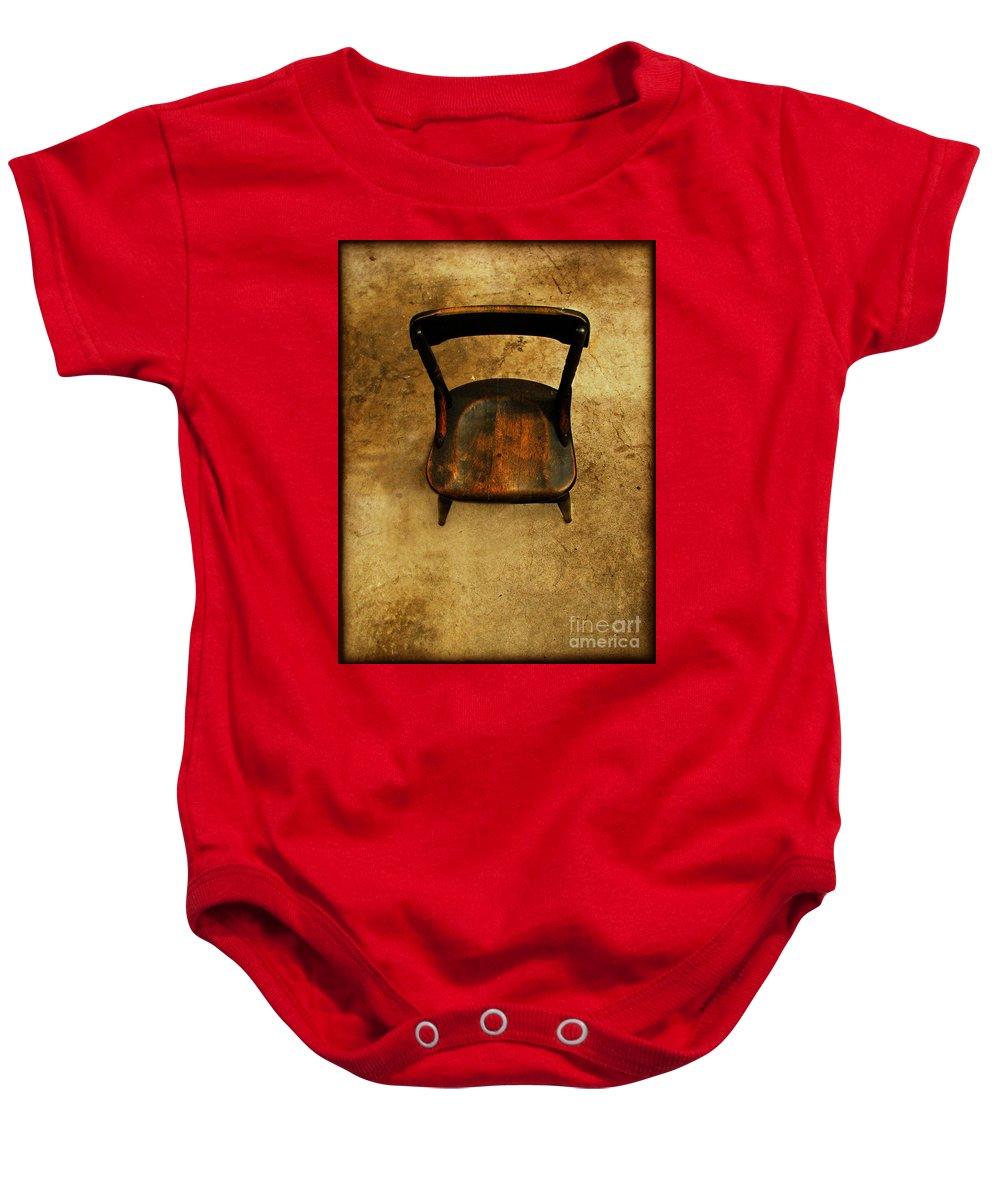 Alone Baby Onesie featuring the photograph Waiting To Say Goodbye by Dana DiPasquale