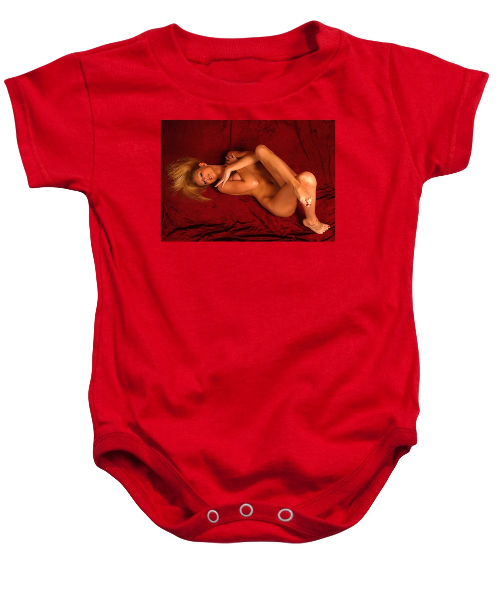 Clay Baby Onesie featuring the photograph Warming Up by Clayton Bruster