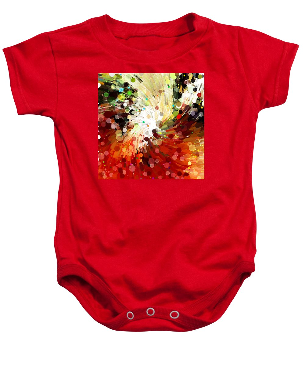 Abstract Baby Onesie featuring the digital art Whirlpool 004 by Alex Pyro