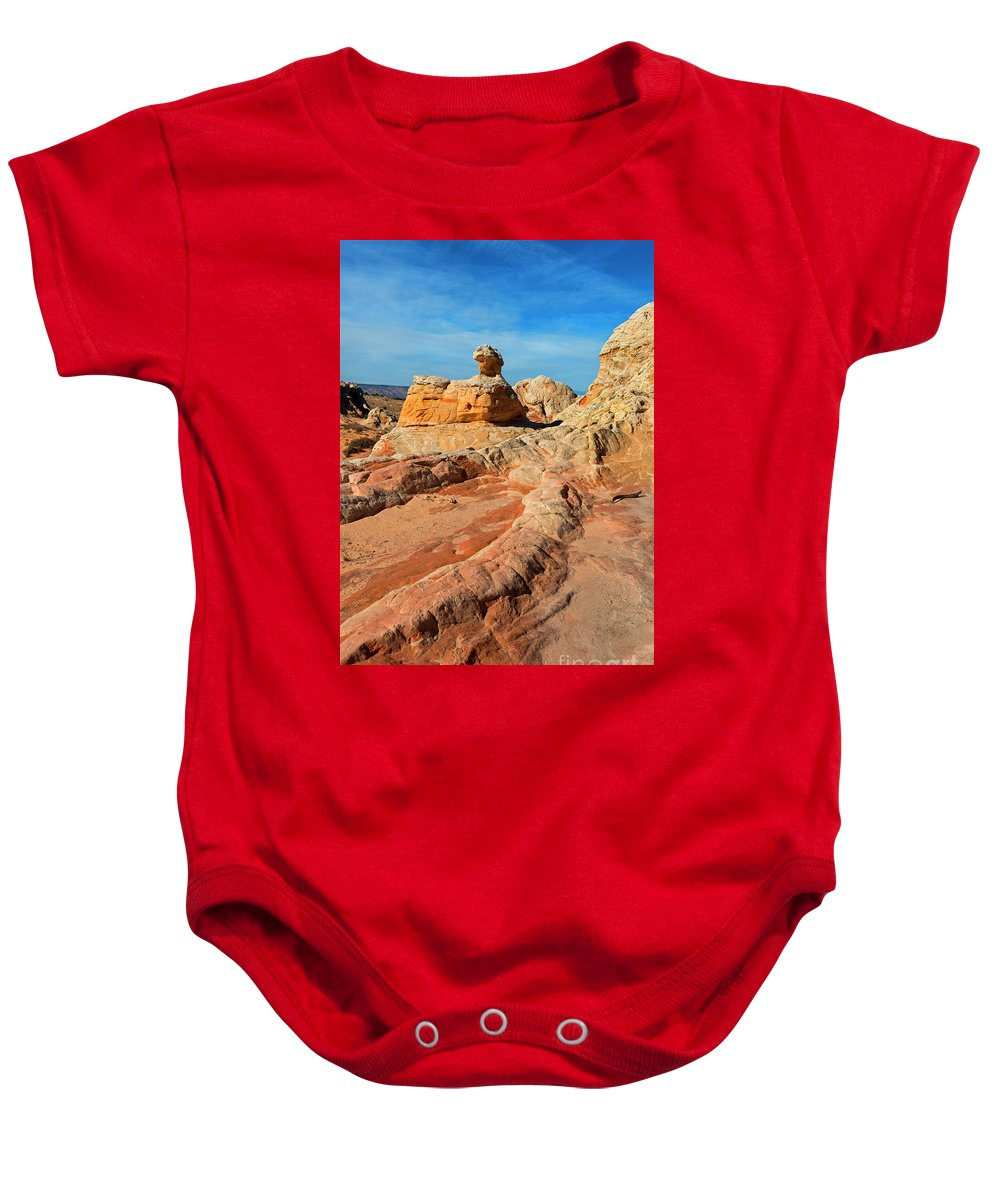 White Pocket Baby Onesie featuring the photograph White Pocket Hoodoo by Mike Dawson