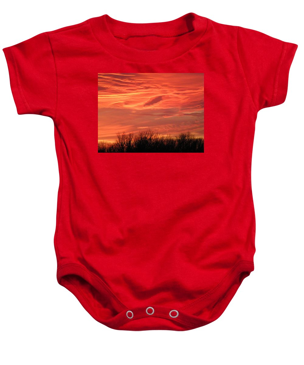 Sunset Baby Onesie featuring the photograph Who Needs Jupiter by Gale Cochran-Smith