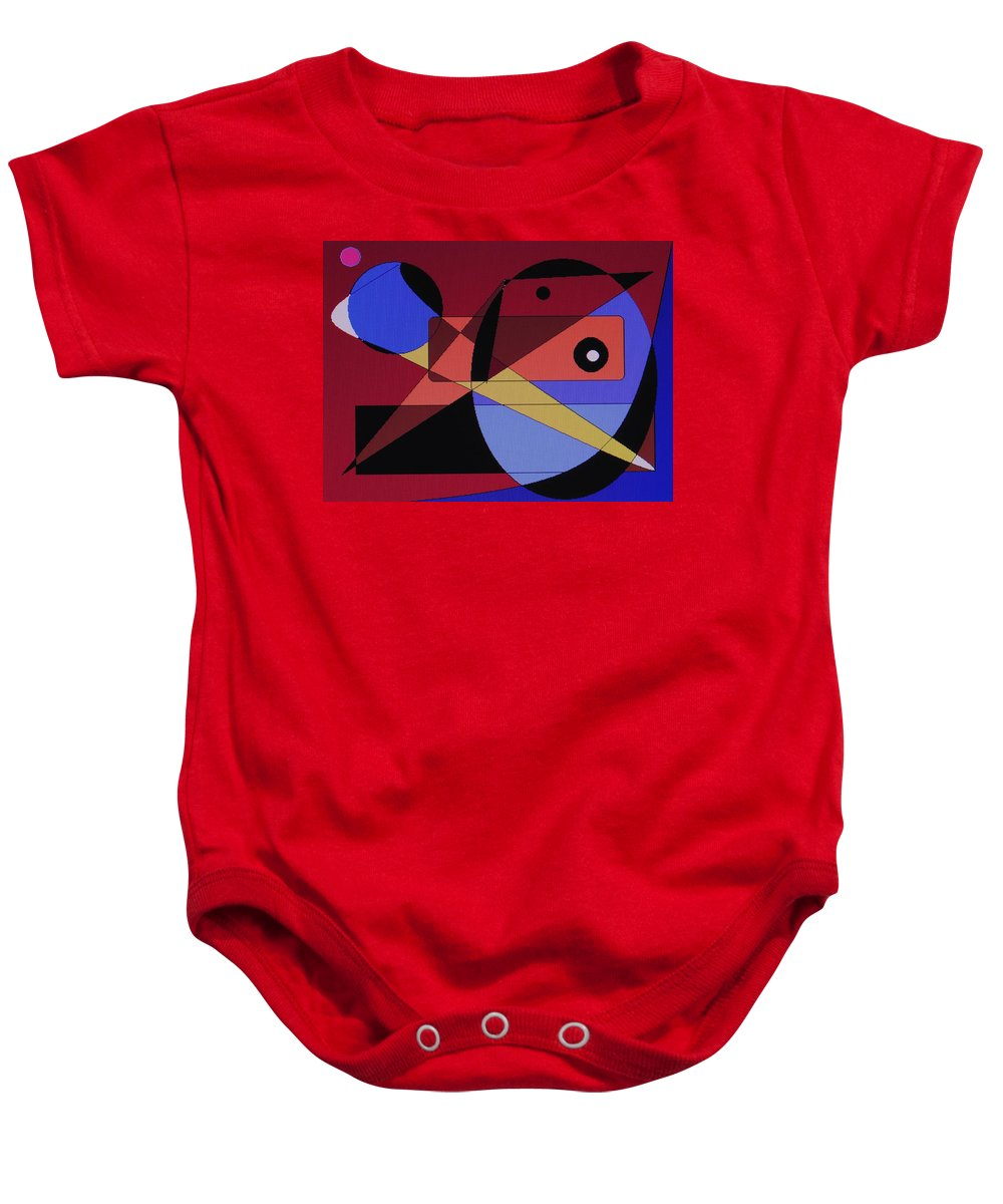 Abstract Bird Baby Onesie featuring the digital art Wild Bird by Ian MacDonald