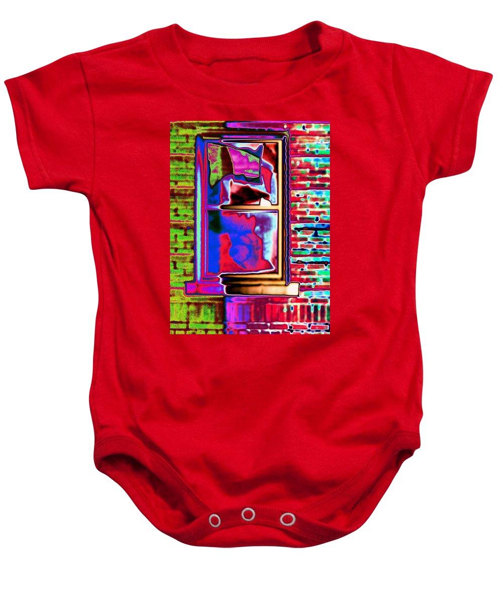 Window Baby Onesie featuring the digital art Window 1 by Tim Allen