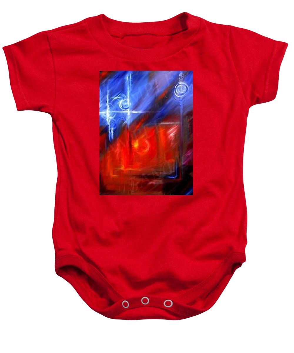 Abstracts Baby Onesie featuring the painting Windows by James Christopher Hill