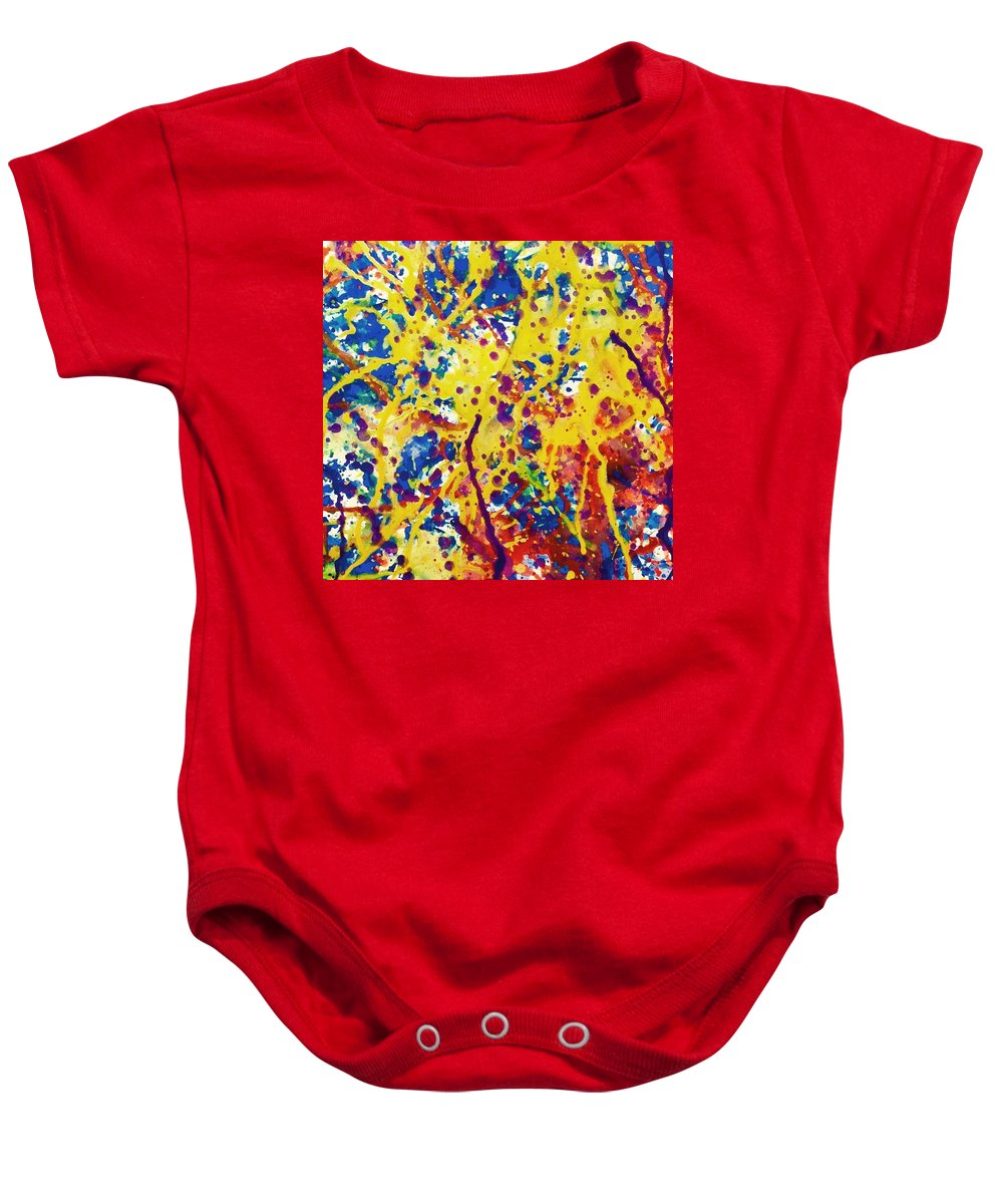 Watercolor Baby Onesie featuring the painting Xanadu by Mike King