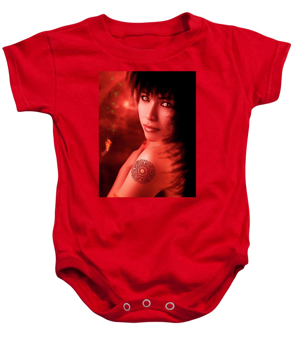 Sorceress Baby Onesie featuring the photograph Yeeneth by Ponte Ryuurui