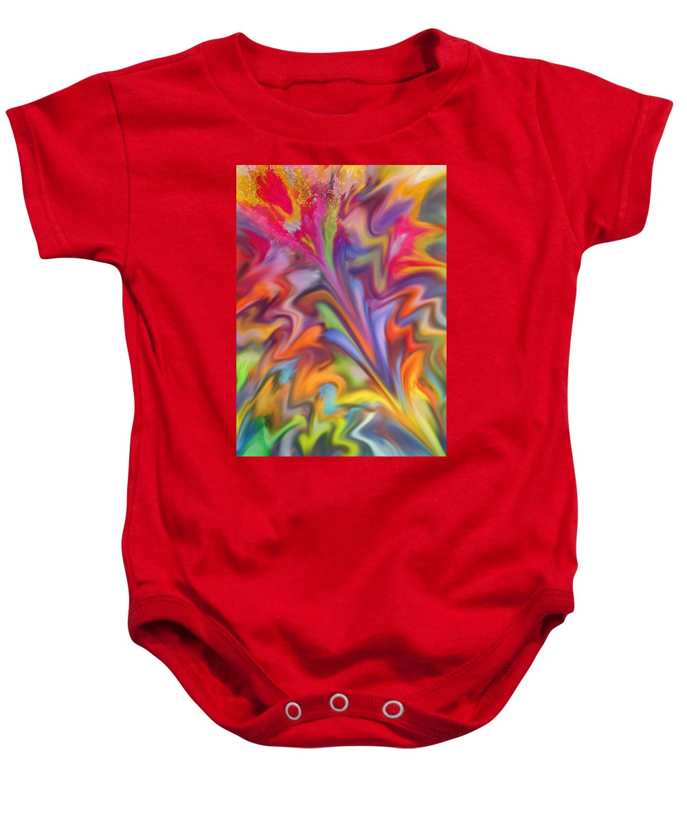 Abstract Baby Onesie featuring the digital art You Got Color by Ian MacDonald