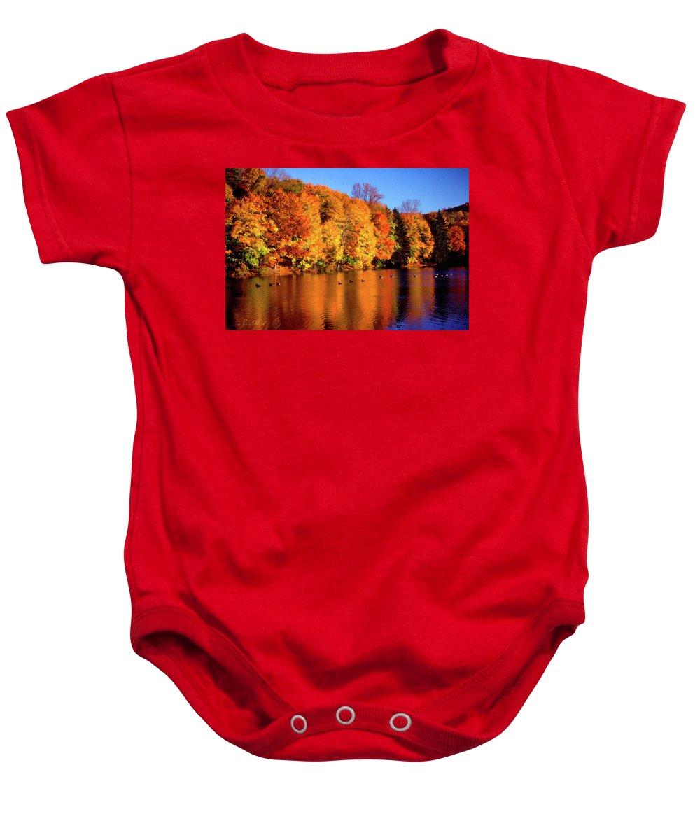 Bernharts Dam Baby Onesie featuring the photograph Bernharts Dam Fall 008 by Scott McAllister