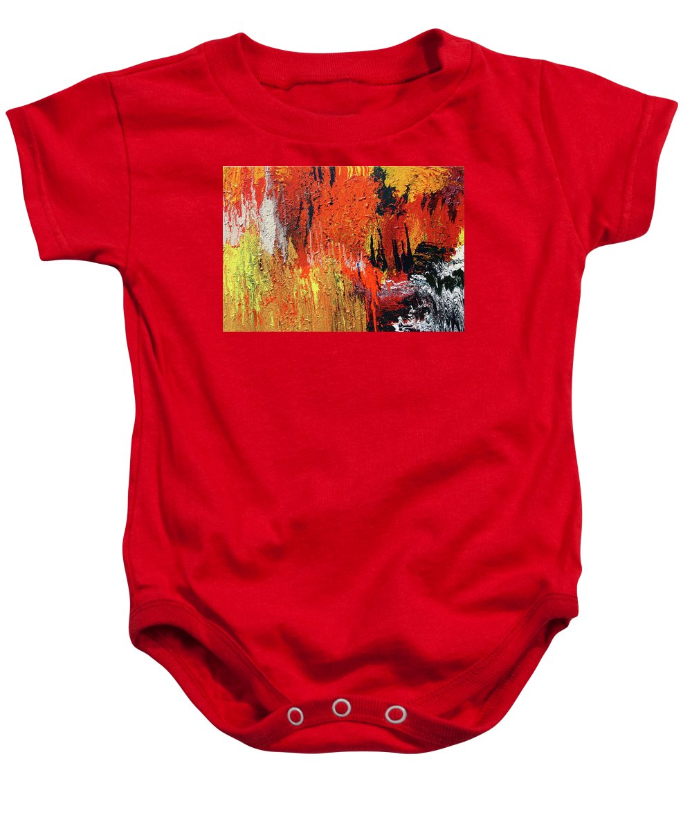 Fusionart Baby Onesie featuring the painting Chasm by Ralph White