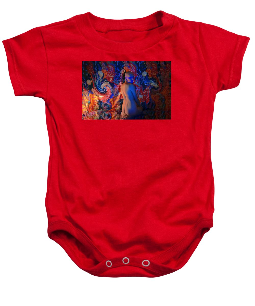 Posthuman Baby Onesie featuring the digital art Cyber Icon by Lati Meria