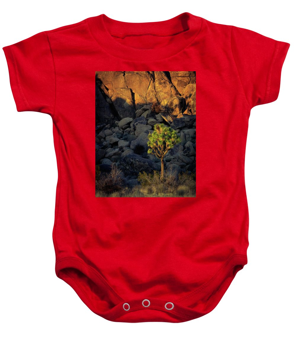 Joshua Tree National Park Baby Onesie featuring the photograph Joushua Sunset 1 by Michael Barrett