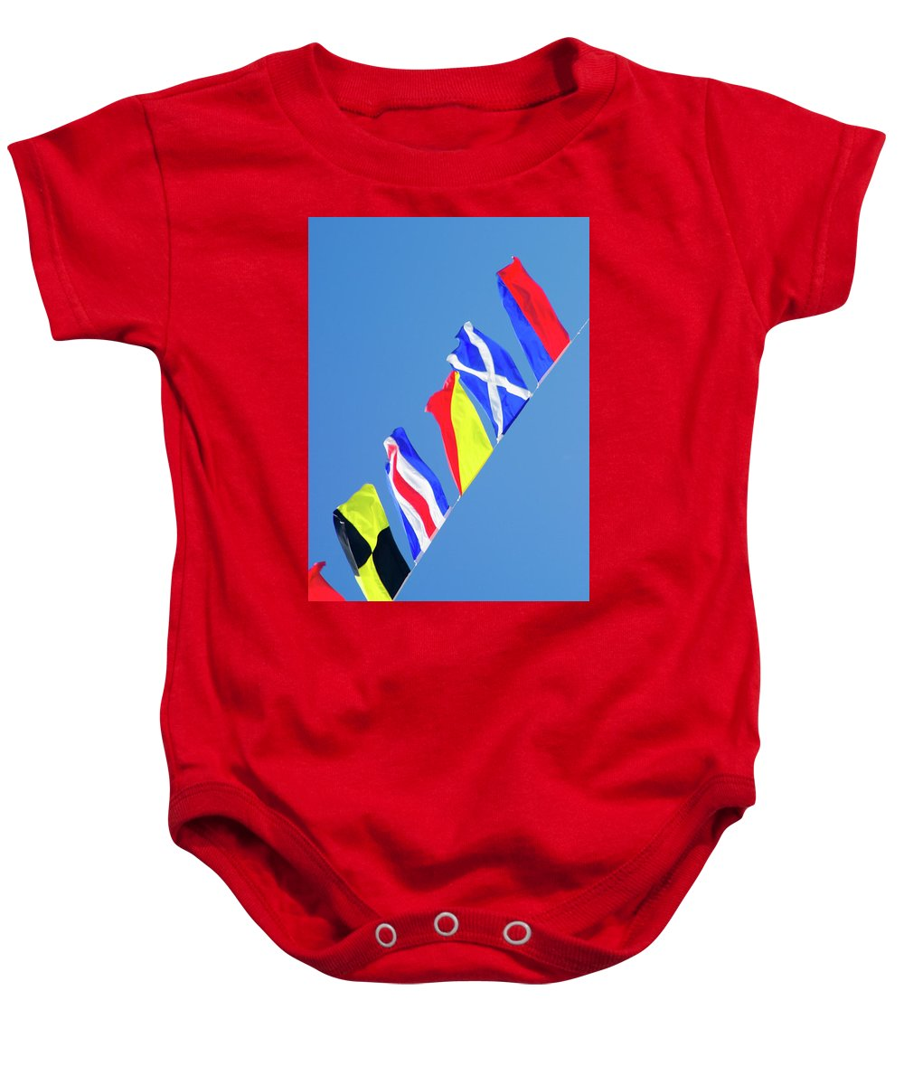 Marine Baby Onesie featuring the photograph Maritime Signal Flags by David Smith