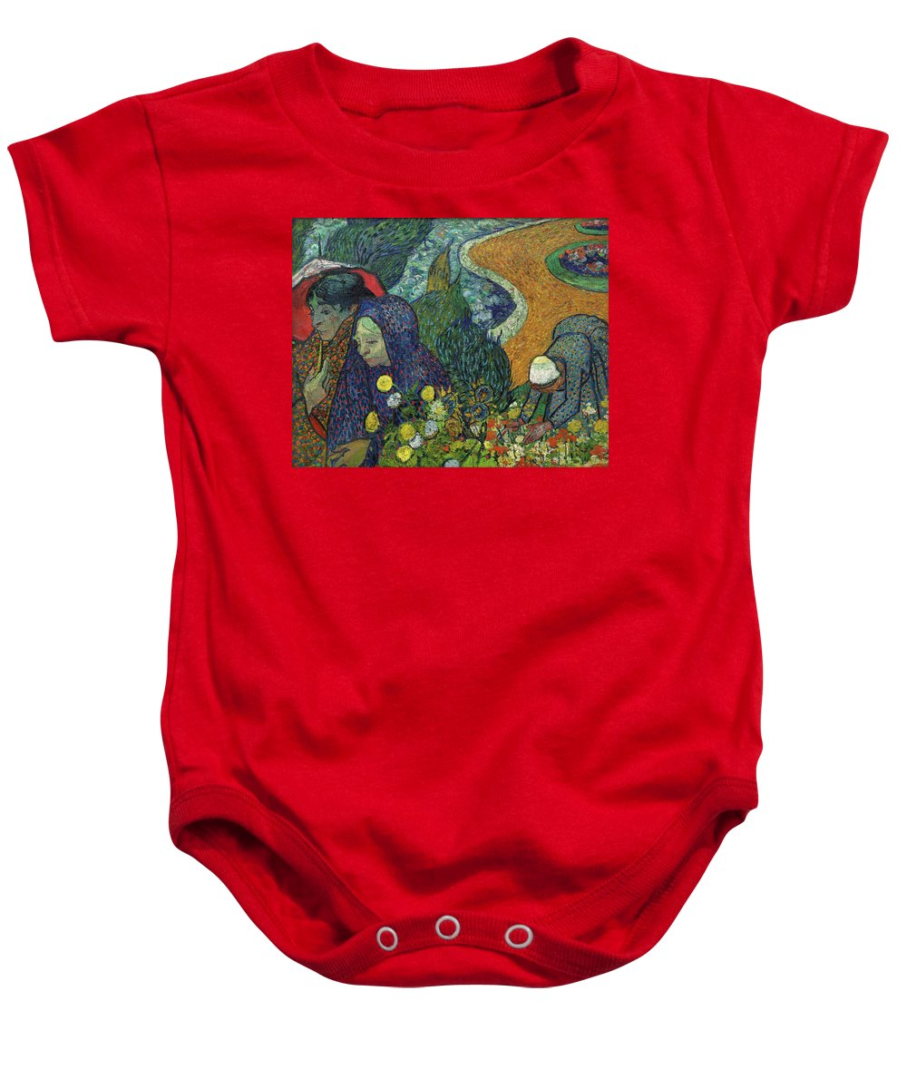 Vincent Van Gogh Baby Onesie featuring the painting Memory Of The Garden At Etten, 1888 by Vincent Van Gogh