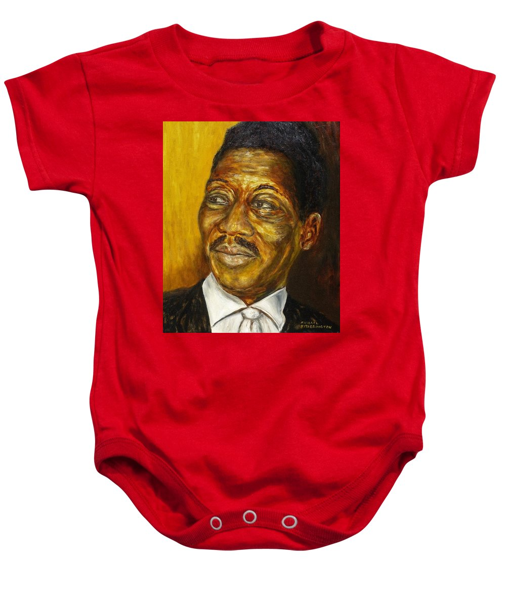 Muddy Waters Baby Onesie featuring the painting Muddy Waters by Michael Titherington