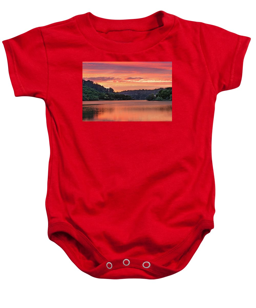 Sunrise Baby Onesie featuring the photograph Promise And Peace by Tran Boelsterli