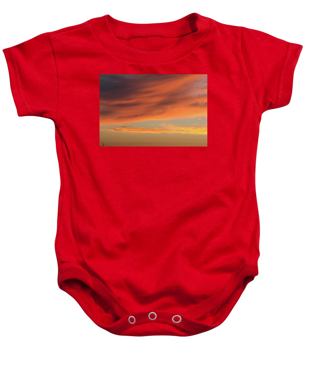 Sunset Baby Onesie featuring the photograph Skies Of Orange by Shot City Media