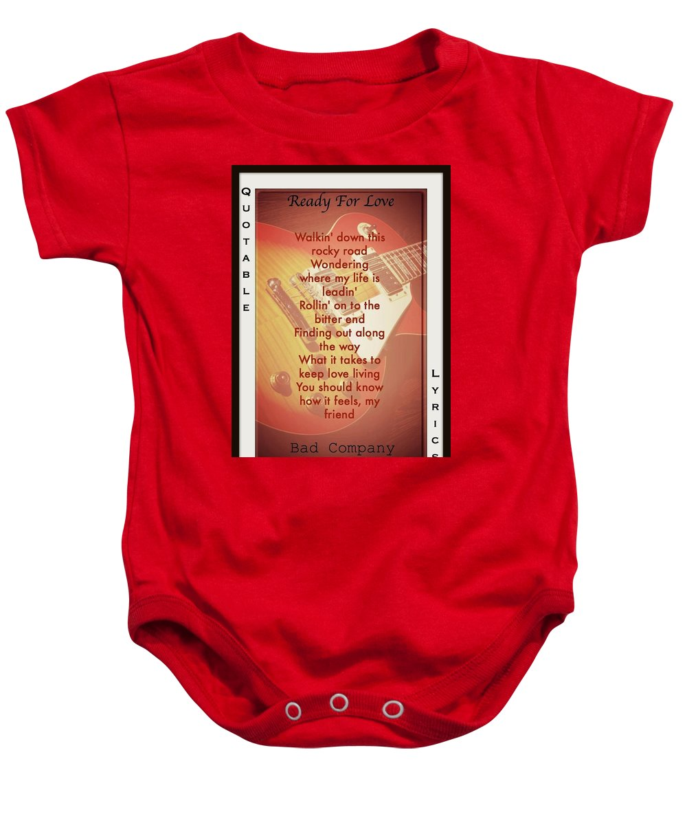 Bad Company Baby Onesie featuring the photograph Ready For Love by David Norman