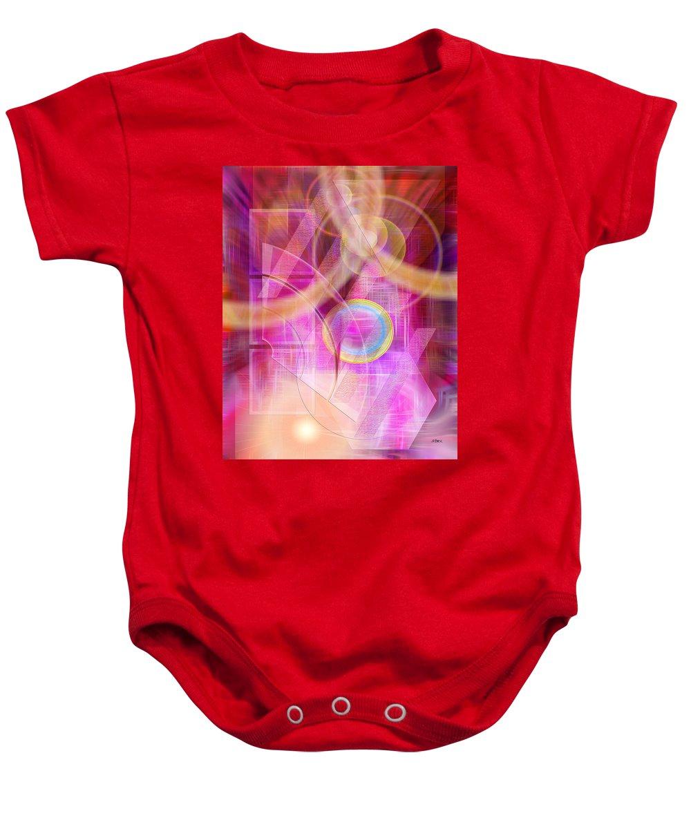 Northern Lights Baby Onesie featuring the digital art Northern Lights by Studio B Prints