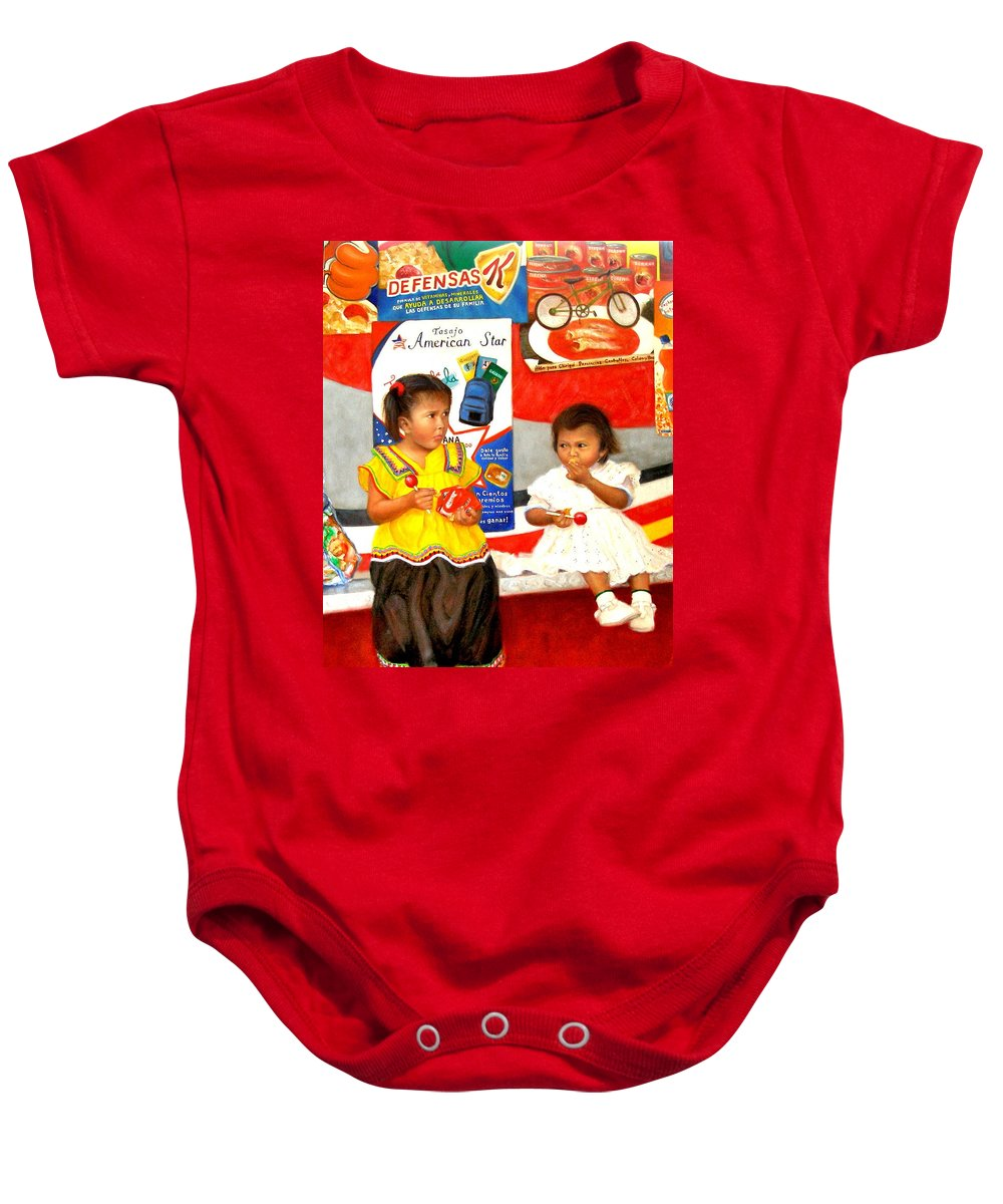 Realism Baby Onesie featuring the painting Same by Donelli DiMaria