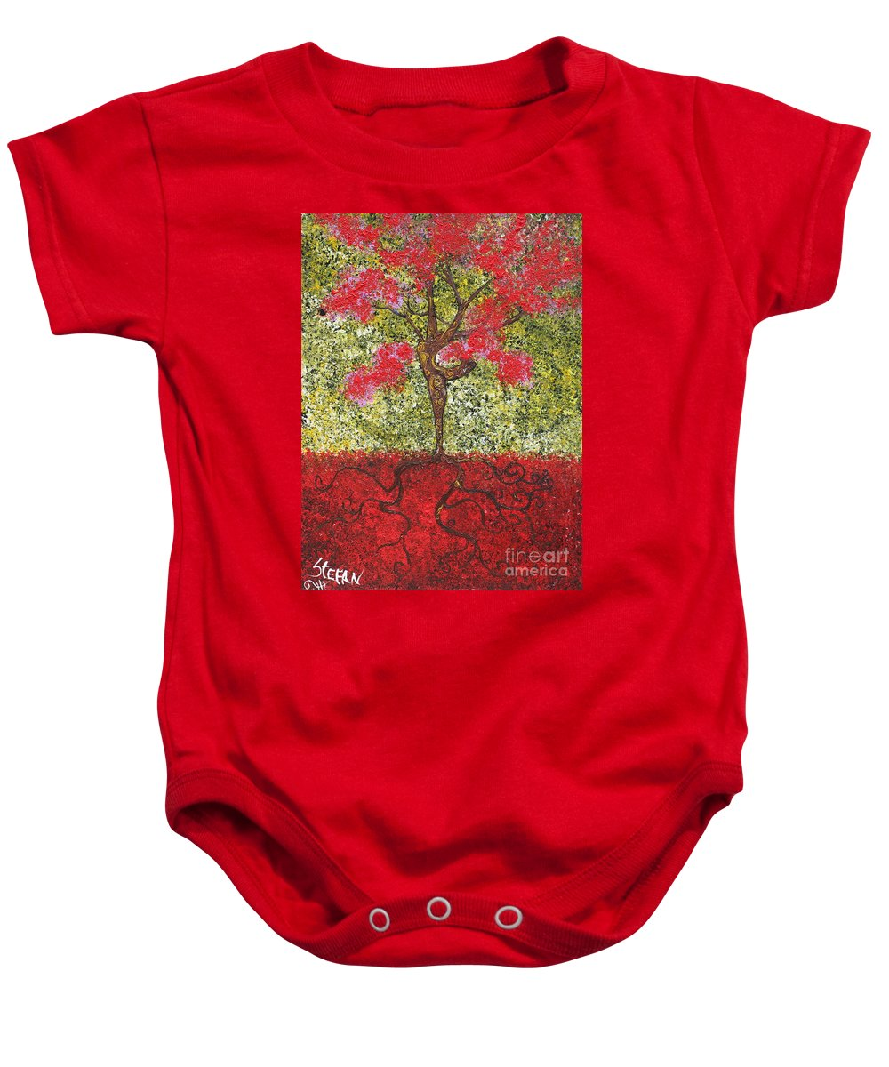 Dancer Baby Onesie featuring the painting The Lady Tree Dancer by Stefan Duncan
