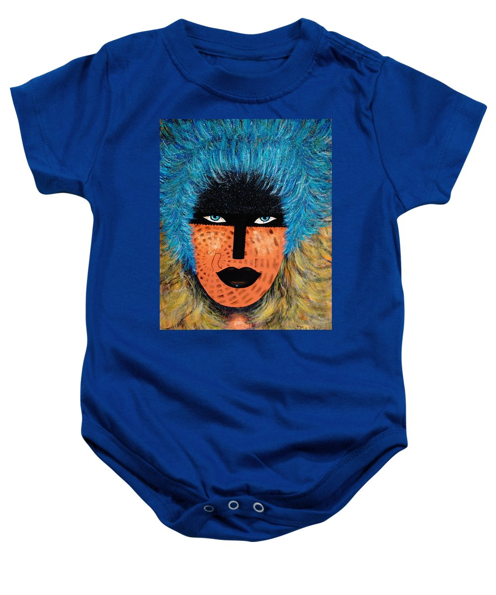 Woman Baby Onesie featuring the painting Viva Niva by Natalie Holland