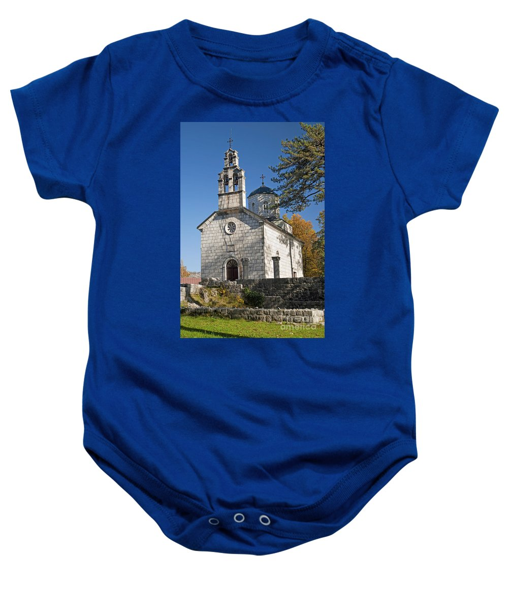 Adriatic Baby Onesie featuring the photograph Church In Cetinje Montenegro by Jacek Malipan