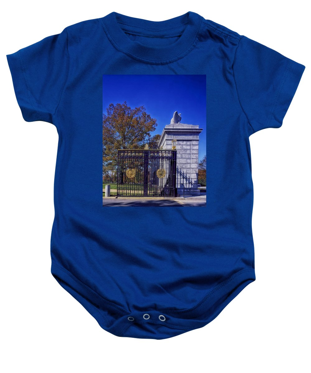 Arlington Cemetery Baby Onesie featuring the photograph Gate To Arlington Cemetery by Mountain Dreams