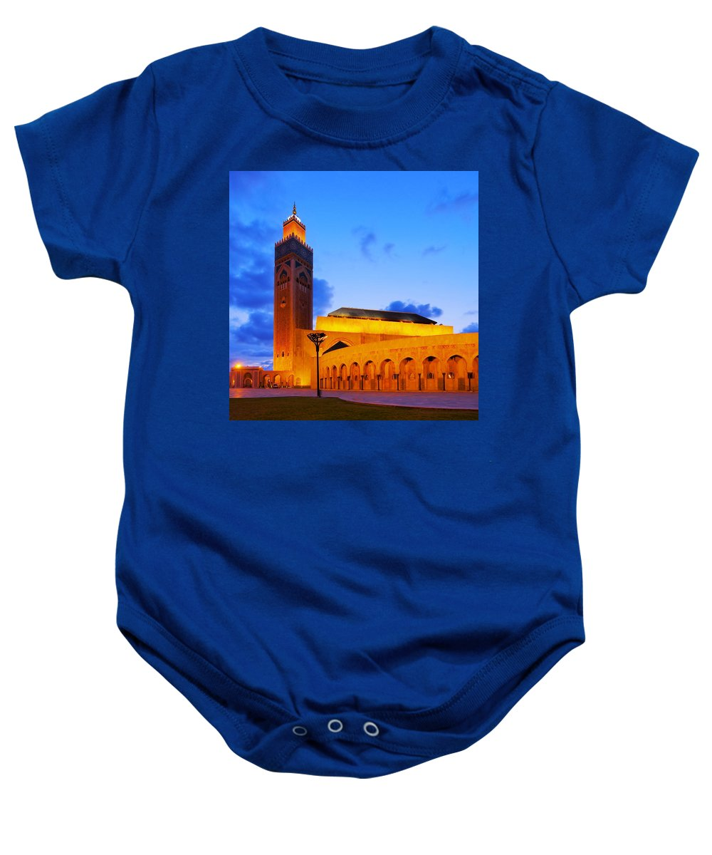 Africa Baby Onesie featuring the photograph Hassan II Mosque In Casablanca by Karol Kozlowski