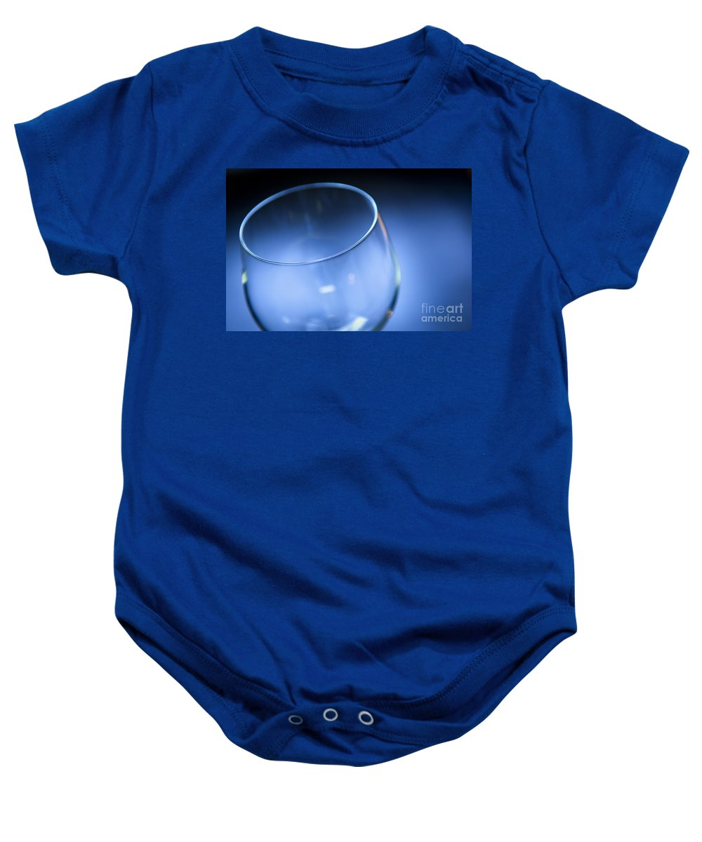 Above Baby Onesie featuring the photograph Wine Glass by Tim Hester