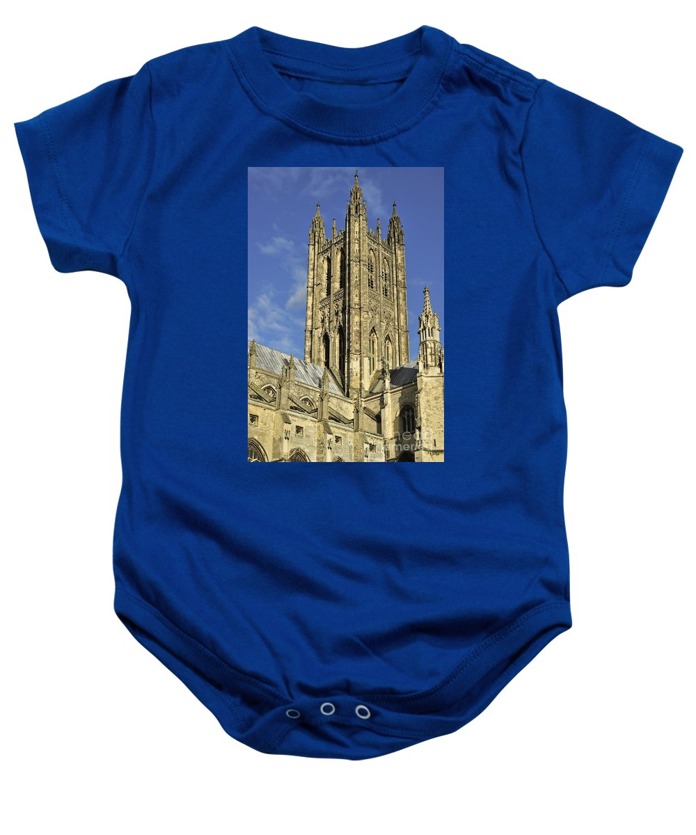 Bell Harry Tower Baby Onesie featuring the photograph 121012p301 by Arterra Picture Library