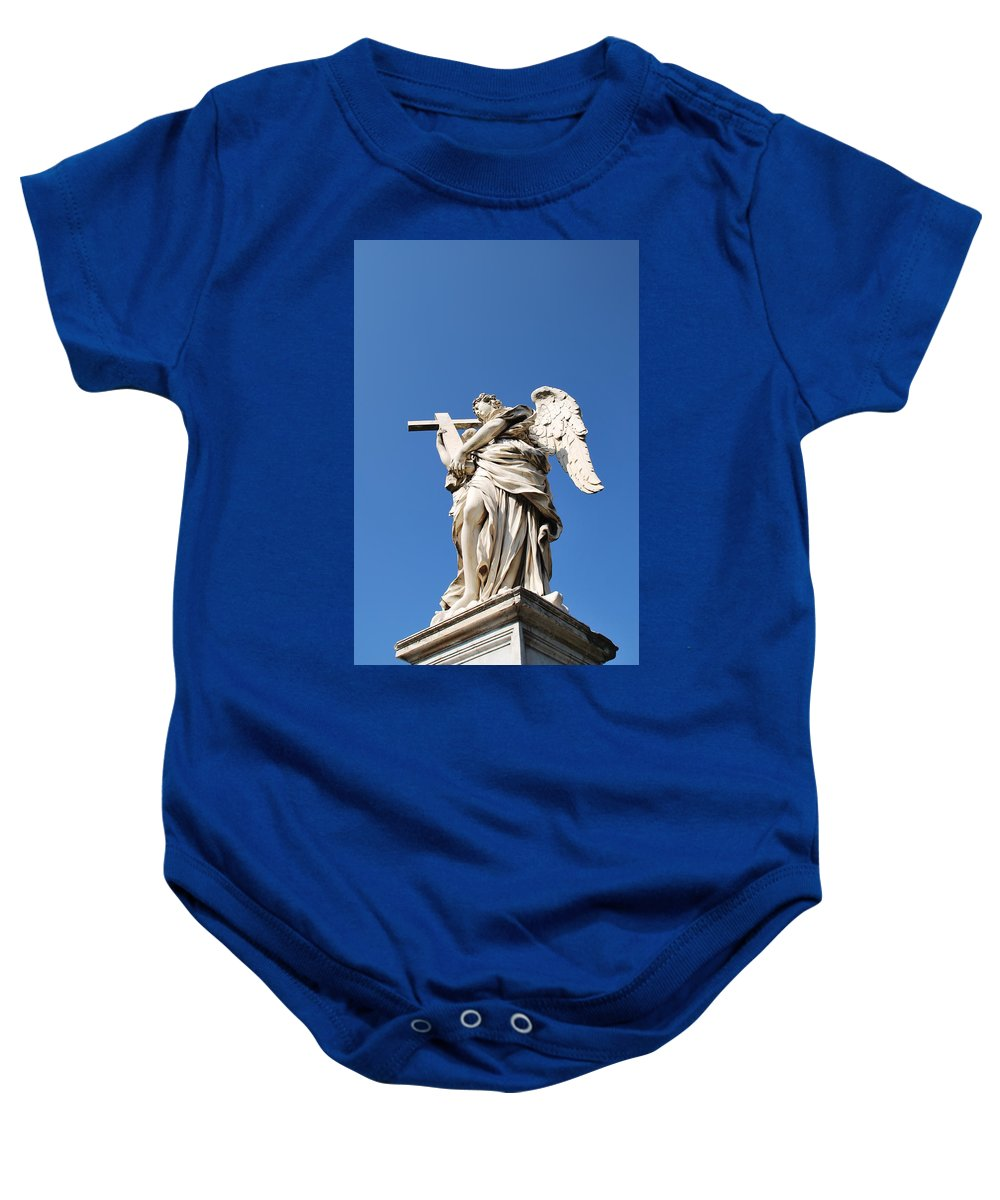 Statue Baby Onesie featuring the photograph Statue In Vatican City by Richard Booth