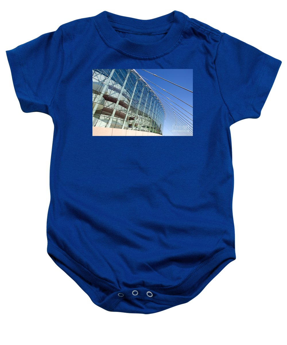 Brandmeyer Baby Onesie featuring the photograph The Kauffman Center For The Performing Arts by Bill Cobb