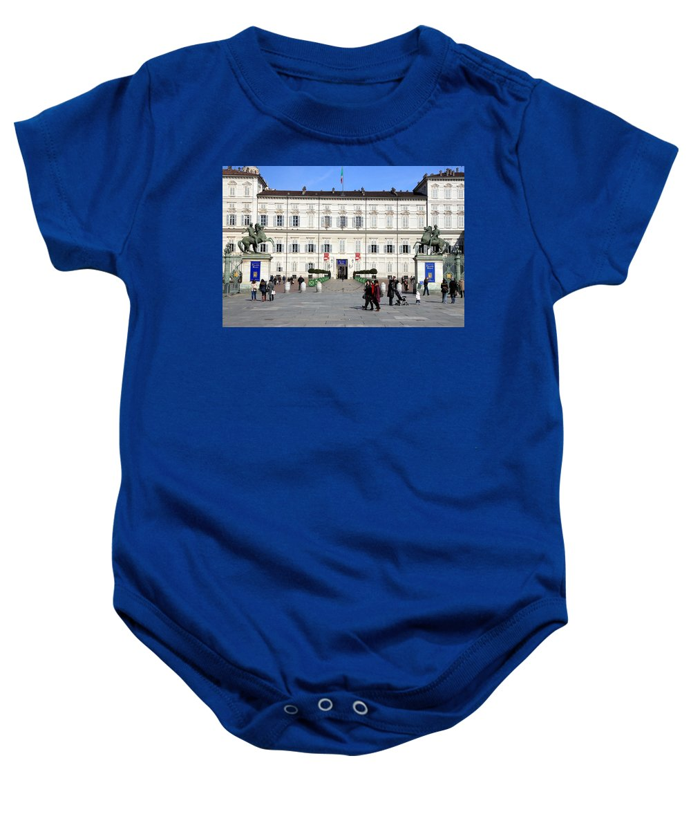 Italy Baby Onesie featuring the photograph Turin Palazzo Reale by Valentino Visentini