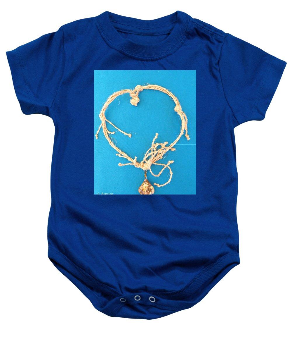 Baby Onesie featuring the jewelry Aphrodite Urania Necklace by Augusta Stylianou